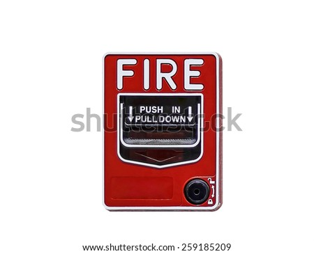 fire break glass  on white background with paths - stock photo