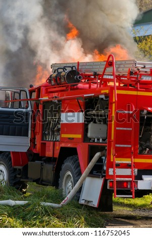 Fire brigade. - stock photo