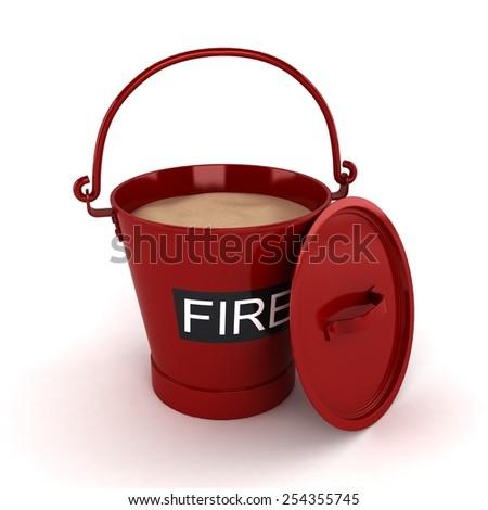 Fire Bucket - stock photo
