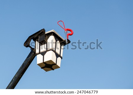 fire bucket ladder for firefighter - stock photo