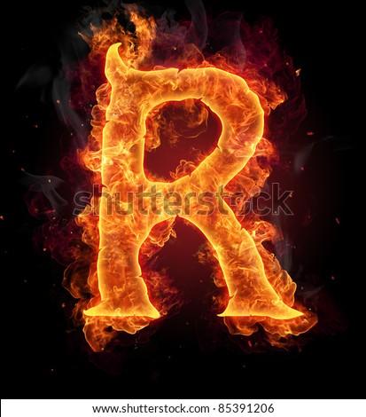 Fiery Letter R Font Stockfoto's, afbeeldingen & plaatjes ...