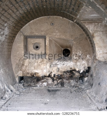 Fire chamber of incinerator - stock photo