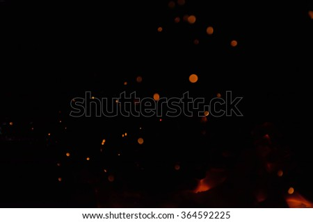 Fire charcoal - stock photo