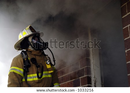 fire chief looks on