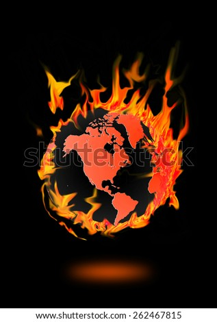 fire circle burning earth