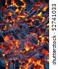 Fire coals - stock photo
