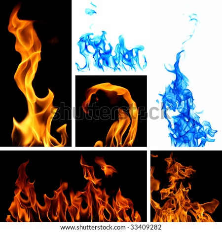 Fire Collage - stock photo