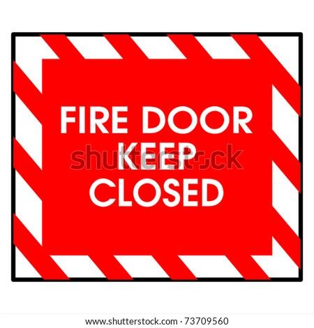 fire door keep closed - stock photo