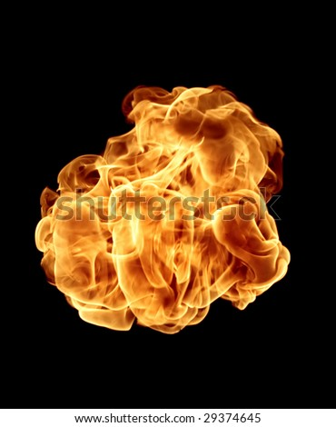 Fire element isolated.