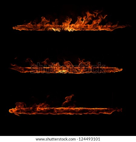 Fire elements - stock photo