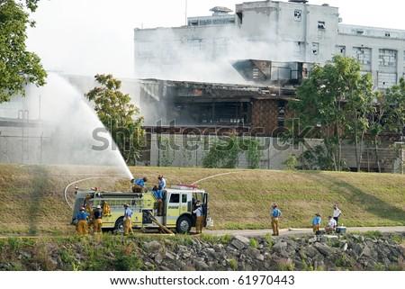Fire Emergency Response Team - stock photo