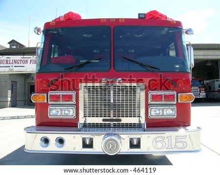 Fire Engine, Ladder Truck - stock photo