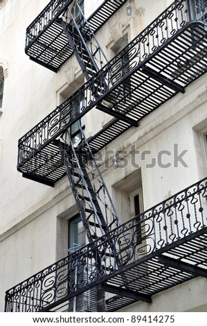 Fire escape 1 - stock photo