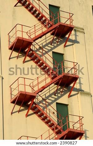 Fire Escape Ladder - stock photo