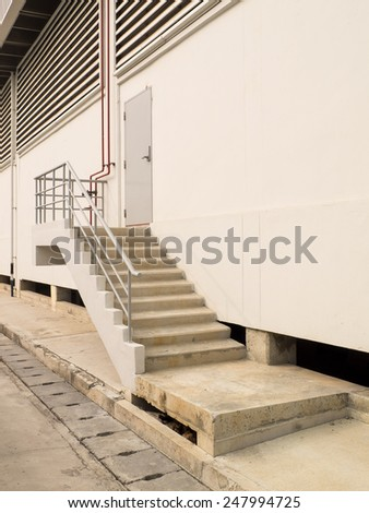 Fire escape of the building - stock photo
