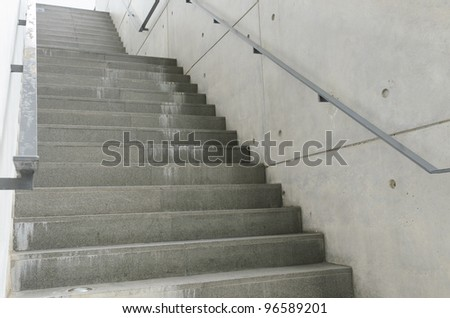 Fire escape stair - stock photo