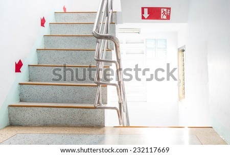 Fire escapes, the light and airy. - stock photo