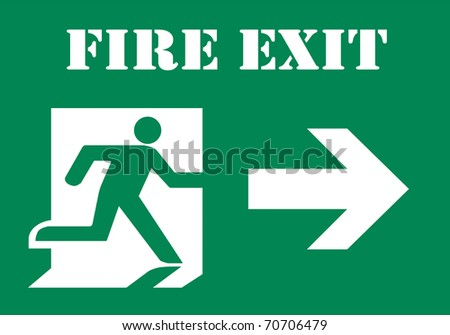 Fire Exit Symbol - stock photo