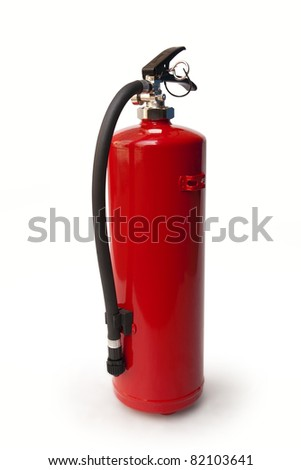 fire extinguisher. clipping path included - stock photo