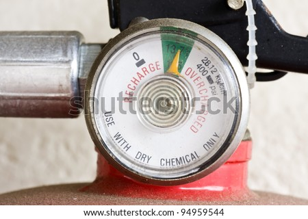 fire extinguisher close up - stock photo