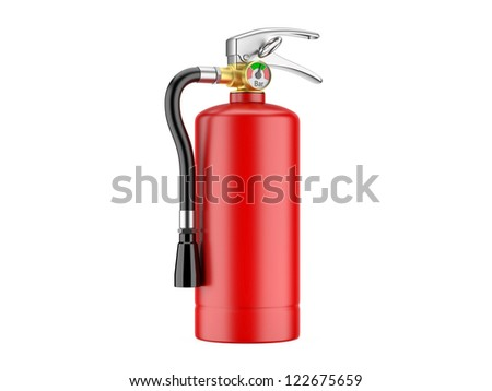 Fire Extinguisher. 3d image on a white background