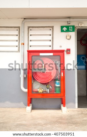 fire extinguisher equipment  - stock photo