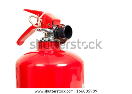 fire extinguisher head isolate on white background - stock photo