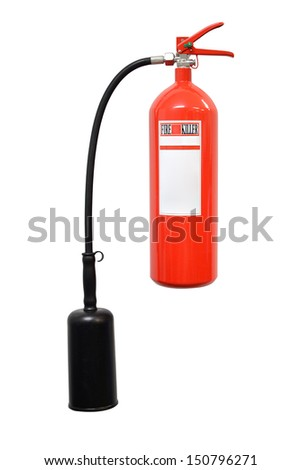 Fire extinguisher isolate on white background - stock photo