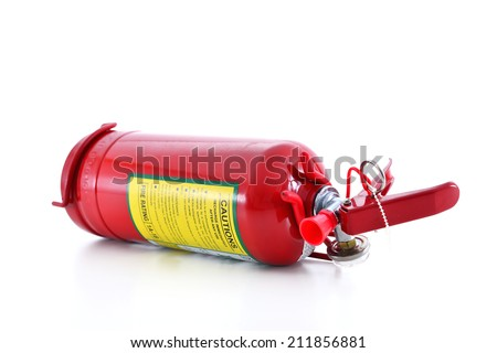 Fire Extinguisher Isolated - stock photo