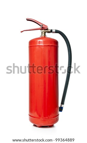 Fire extinguisher isolated on a white background - stock photo