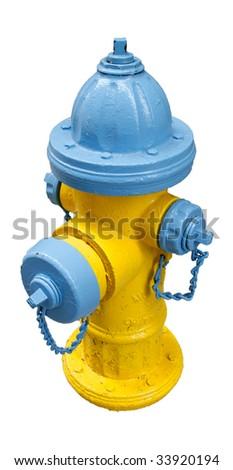 fire extinguisher isolated on white - stock photo