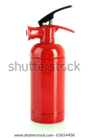 fire extinguisher isolated on white - stock photo