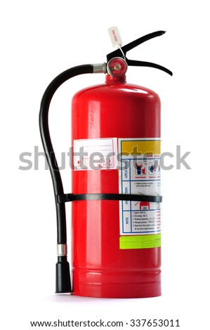 Fire extinguisher isolated on white background - stock photo