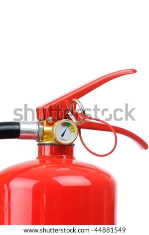 Fire extinguisher isolated on white background - stock photo