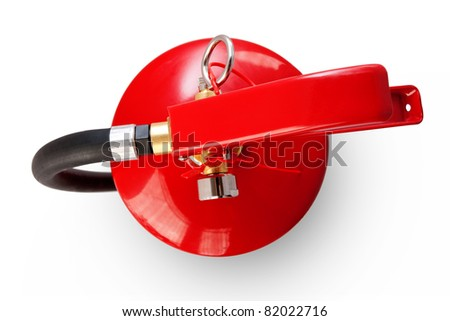 Fire extinguisher top view clipping path included