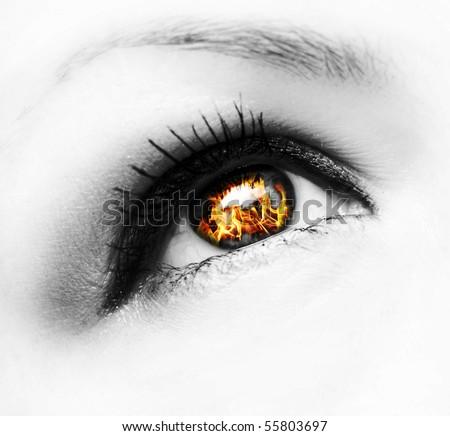 fire eye - stock photo