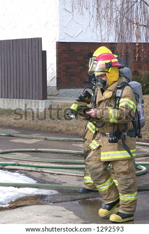 fire fighter after blaze