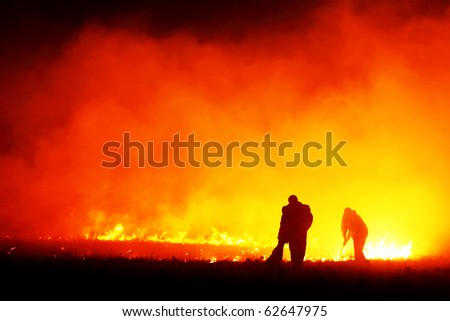 Fire fighters - stock photo