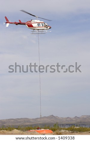 Fire fighting helicopter - stock photo