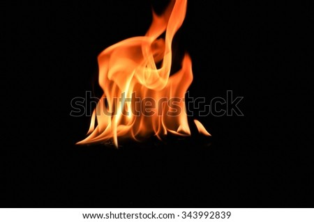 fire, Fire flames on black background,Fire flames background - stock photo