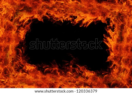 fire flame background - stock photo