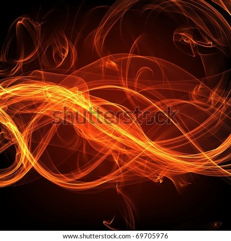 Fire flame banner - stock photo