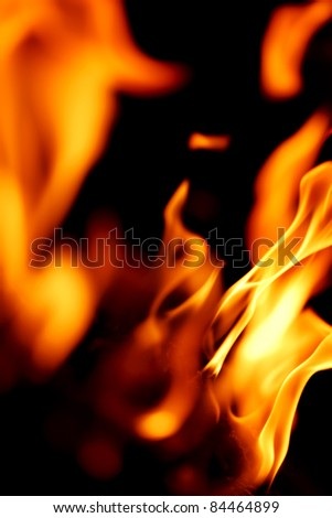 fire flame close up - stock photo