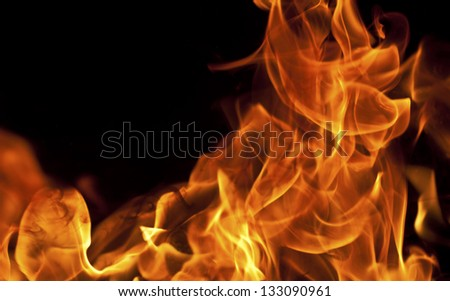 Fire flame close-up view - stock photo