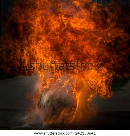 fire flame explosion - stock photo
