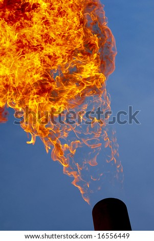 Fire flame from oil rig abstract background