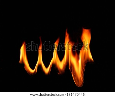 Fire flames burning - stock photo
