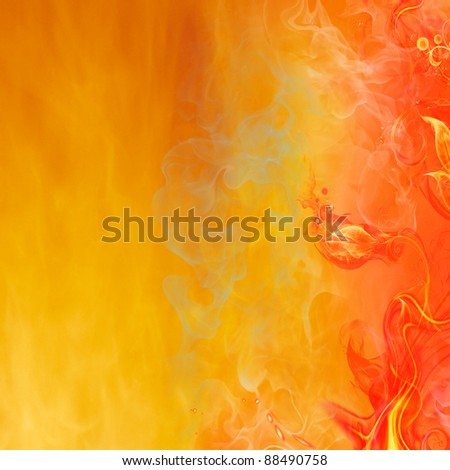 Fire Floral Background - stock photo