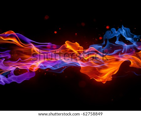 Fire flow - stock photo