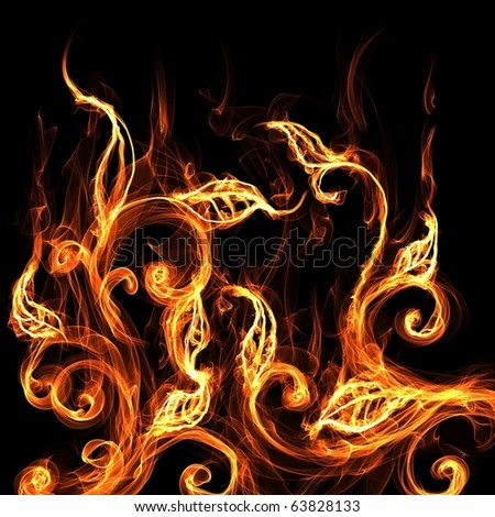 Fire flower - stock photo
